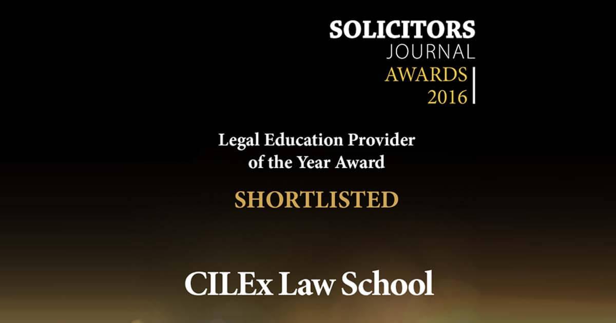 CILEx Law School shortlisted