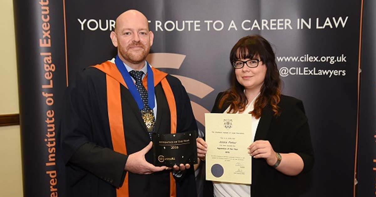 Jessica Parlour from HMRC wins Apprentice of the Year