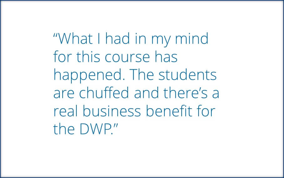 Employer speaks about their experience creating a bespoke course with CLS