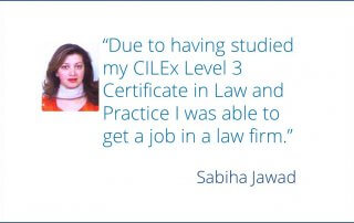 CLS student speaks about their experience studying the CILEx course