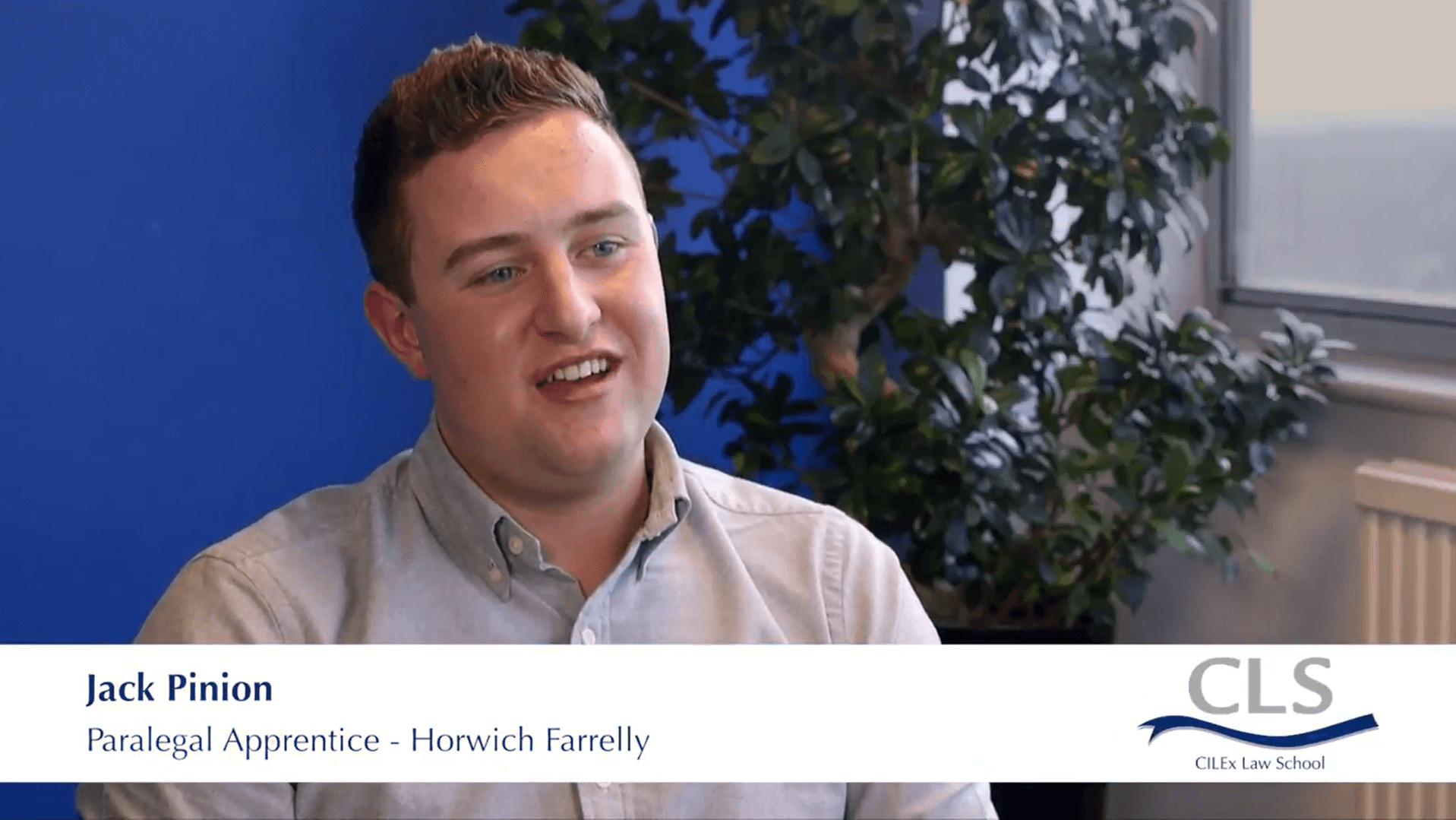Apprentice speaks about their experience working in a law firm